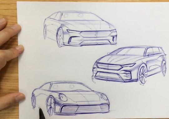 sketch 3-type of cars